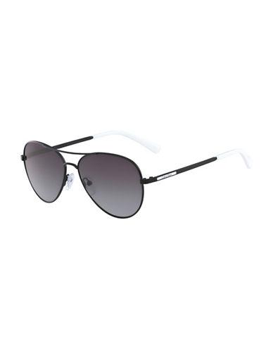 Calvin Klein White Label 58mm Aviator Sunglasses-BLACK-One Size