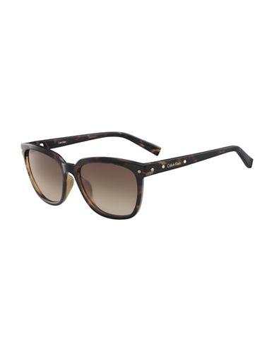 Calvin Klein White Label Square 55 mm Sunglasses-BROWN-One Size