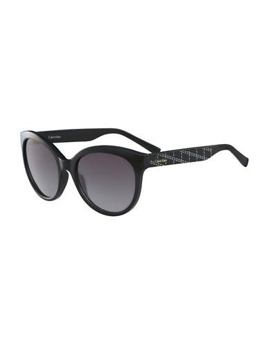 Calvin Klein White Label Oval 58 mm Sunglasses-BLACK-One Size