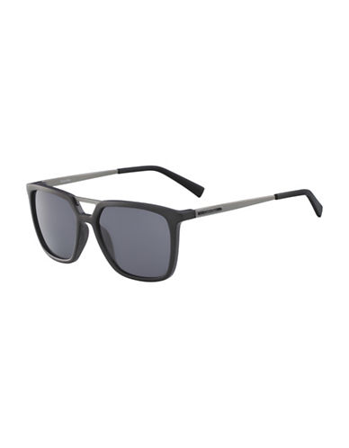 Calvin Klein 55MM R364S Square Sunglasses-BLACK-One Size