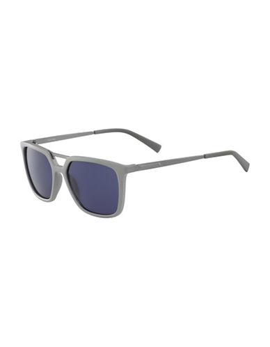 Calvin Klein 55MM R364S Square Sunglasses-GREY-One Size
