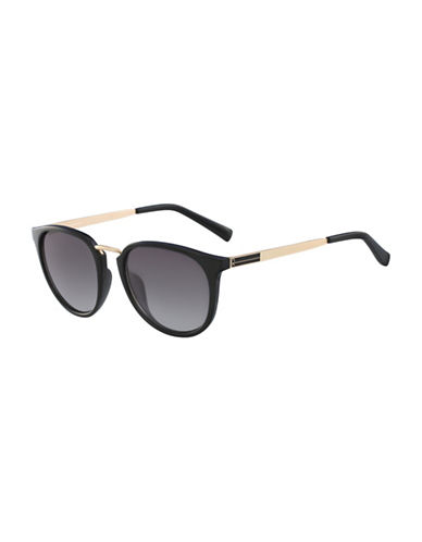 Calvin Klein White Label 51mm Round Sunglasses-BLACK-One Size