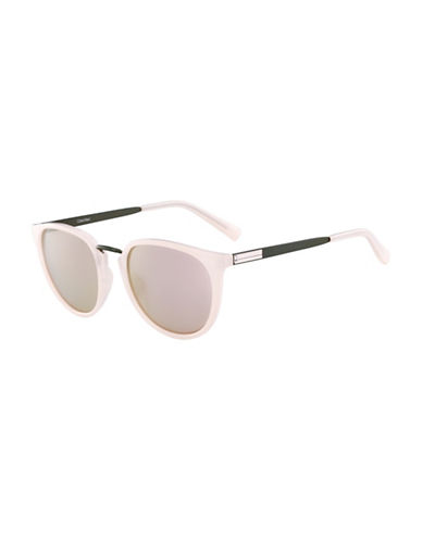 Calvin Klein White Label 51mm Round Sunglasses-PINK-One Size
