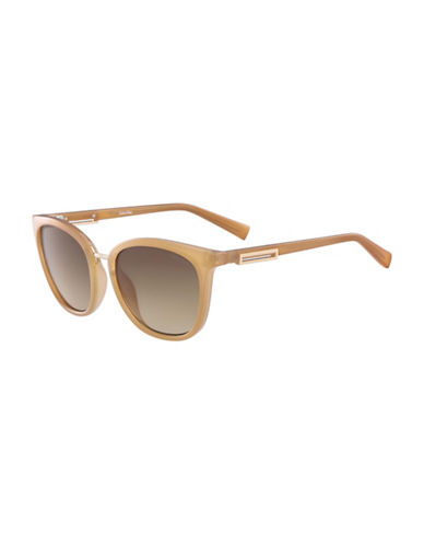 Calvin Klein White Label Square 53 mm Sunglasses-BROWN-One Size