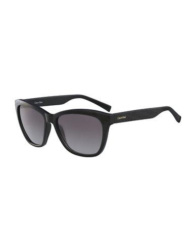 Calvin Klein White Label Square 58 mm Sunglasses-BLACK-One Size