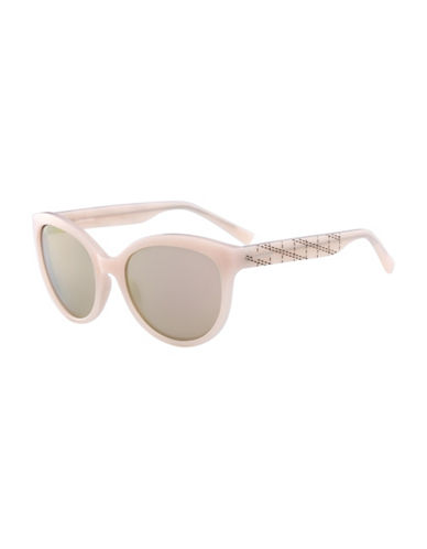 Calvin Klein White Label Oval 58 mm Sunglasses-PINK-One Size