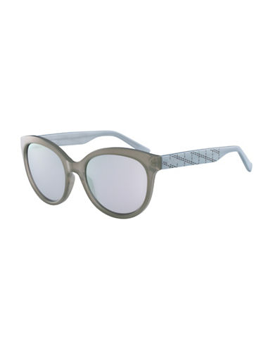 Calvin Klein White Label Oval 58 mm Sunglasses-GREY-One Size