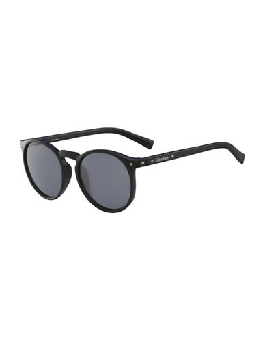 Calvin Klein White Label Round 51 mm Sunglasses-BLACK-One Size
