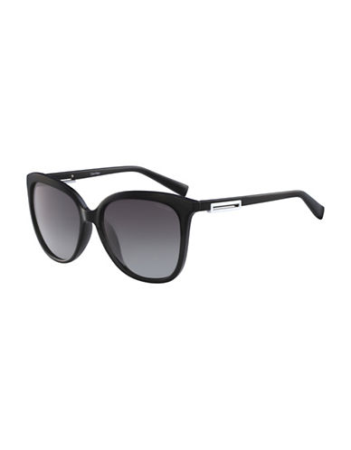 Calvin Klein White Label Square 57 mm Sunglasses-BLACK-One Size