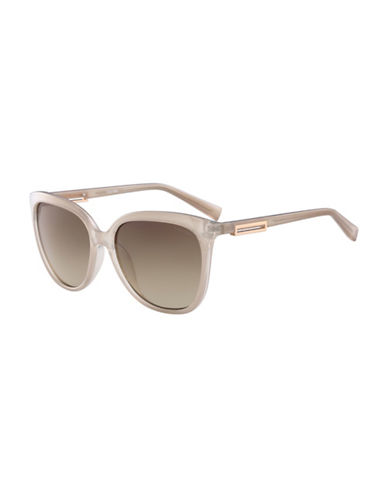 Calvin Klein White Label Square 57 mm Sunglasses-TAUPE-One Size