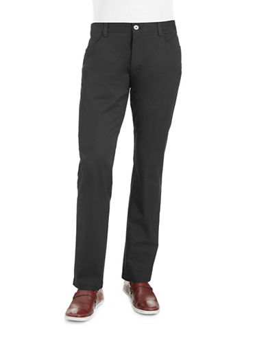 Calvin Klein Slim Fit Chino Pants-BLACK-32X32