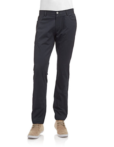 Calvin Klein Slim Fit Chino Pants-NAVY-38X32