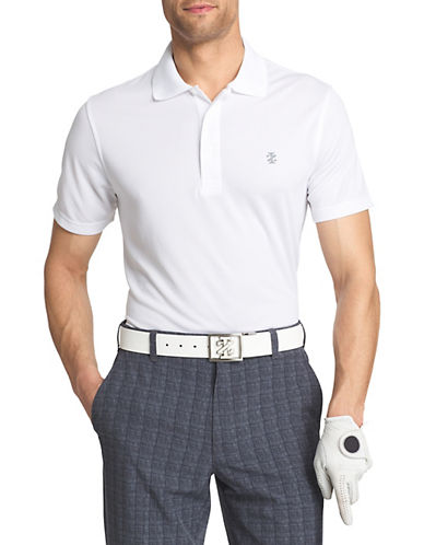 Izod Grid-Knit Golf Polo-WHITE-Small