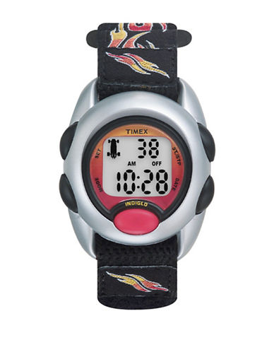 Timex Youth Digital Timex  Kids Fabric Strap Watch-BLACK-One Size
