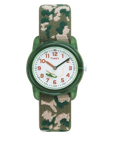 Timex Youth Analog Timex  Kids Fabric Strap Watch-GREEN-One Size