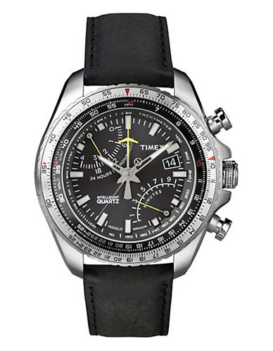 Timex Men's Intelligent Quartz Aviator FlyBack Chronograph Watch black One Size