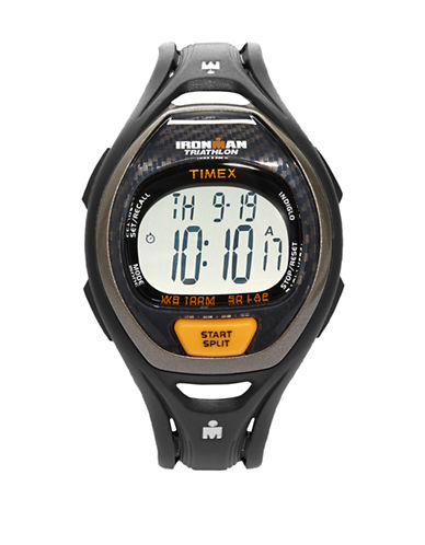 Timex Mens Ironman Triathlon Watch-BLACK-One Size