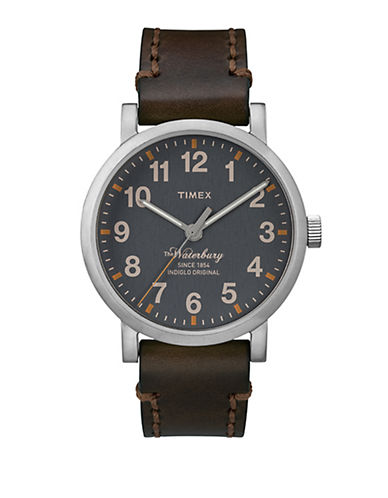 Timex Mens Originals Modern Round TW2P58700AW-BROWN-One Size