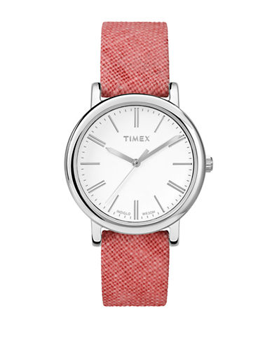 Timex Womens Originals Classic Round Standard Watch  TW2P63600AW-PINK-One Size 87481630_PINK_One Size
