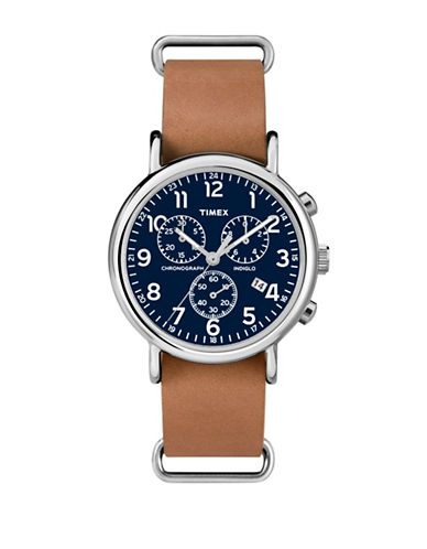 Timex Chronograph Oversized Watch-TAN-One Size