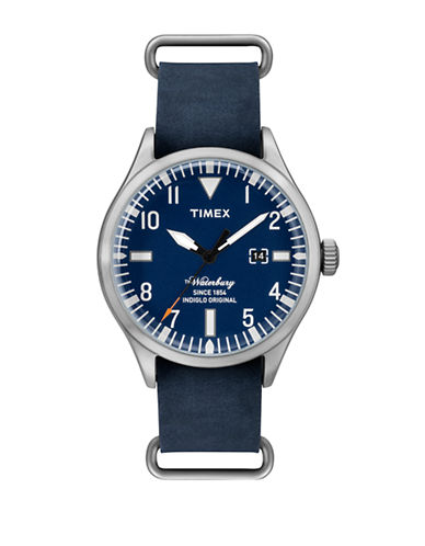 Timex Mens Analog Waterbury Collection Watch-BLUE-One Size