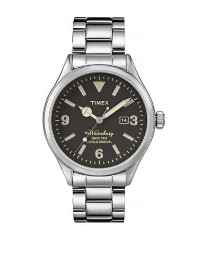 Timex Waterbury Stainless Steel Analog Watch-BLACK-One Size