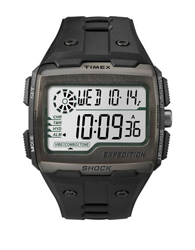 Timex Digital Expedition Grid Shock Watch-BLACK-One Size