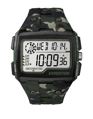 Timex Digital Expedition Grid Shock  Resin Strap Watch-CAMOFLAGE-One Size