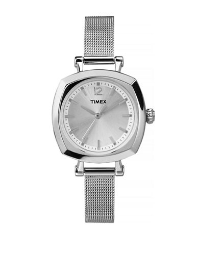 Timex Helena Stainless Steel Analog Watch-SILVER-One Size