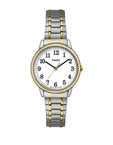 Timex Easy Reader Two-Tone Stainless Steel Watch-SILVER-One Size