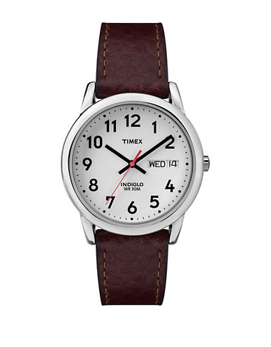 Timex Easy Reader Brown and Silvertone Watch-BROWN-One Size