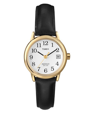 Timex Easy Reader Goldtone Watch-BLACK-One Size