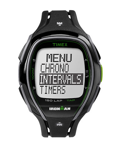 Timex Ironman Sleek 150 Digital Strap Watch-BLACK-One Size