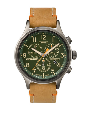 Timex Expedition Scout Chronograph Strap Watch-BEIGE-One Size