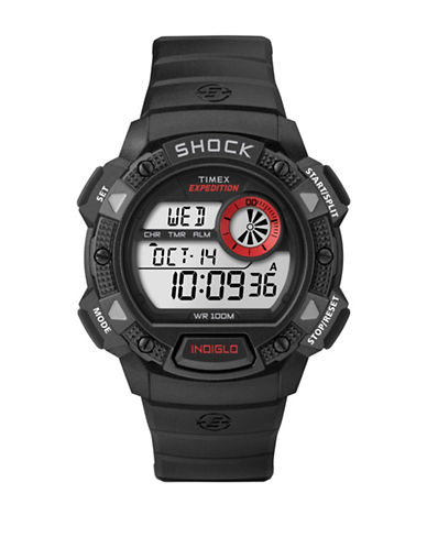 Timex Expedition Base Shock Strap Watch-BLACK-One Size