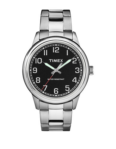 Timex New England Stainless Steel Bracelet Watch-SILVER-One Size