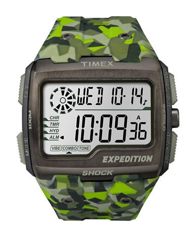 Timex Digital Expedition Grid Shock Strap Watch-GREEN-One Size
