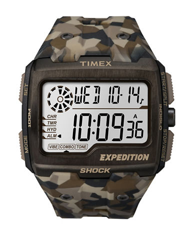 Timex Digital Expedition Grid Shock Strap Watch-BROWN-One Size