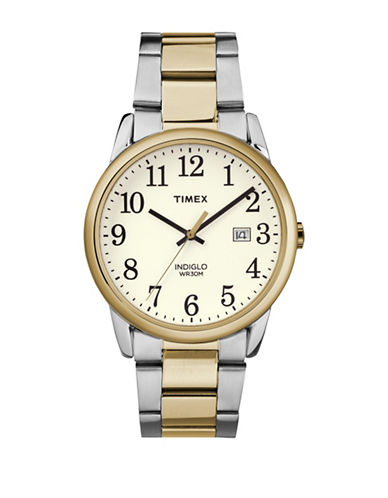 Timex Analog Reader Two-Tone Bracelet Watch-TWO TONE-One Size