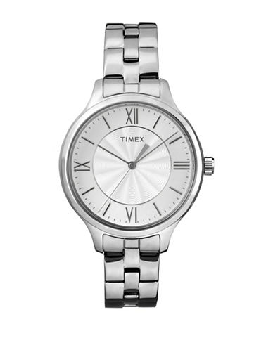 Timex Analog Trend Stainless Steel Bracelet Watch-SILVER-One Size