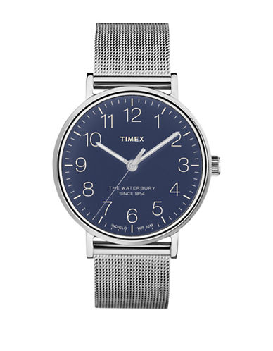 Timex Waterbury Analog Stainless Steel Watch-SILVER-One Size