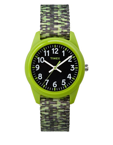 Timex Analog Youth Timex Resin Nylon Band Watch-GREEN-One Size