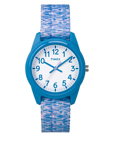 Timex Youth Style Analog Nylon Strap Watch-BLUE-One Size