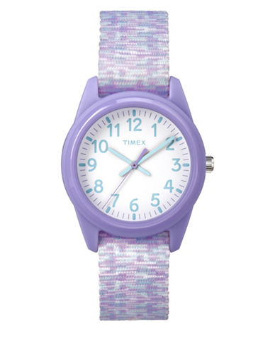 Timex Youth Style Analog Nylon Strap Watch-PURPLE-One Size