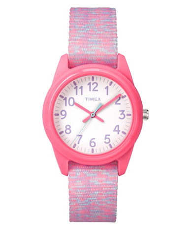Timex Youth Style Analog Nylon Strap Watch-PINK-One Size