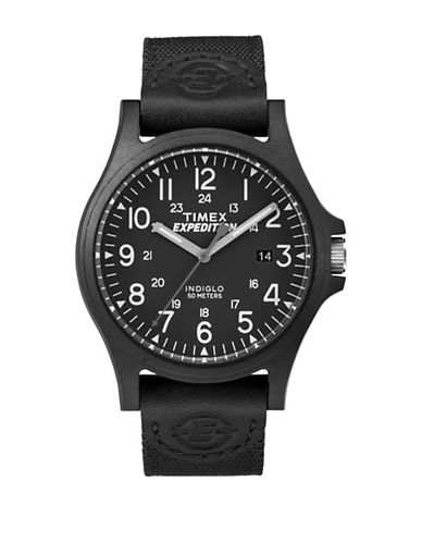 Timex Analog Expedition Black IP Nylon Strap Watch-BLACK-One Size