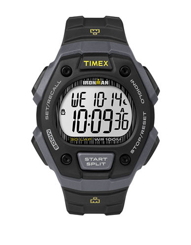 Timex Digital Ironman Classic Black IP Resin Strap Watch-GREY-One Size