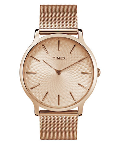 Timex Metropolitan Rose Goldtone Analog Watch-ROSE GOLD-One Size