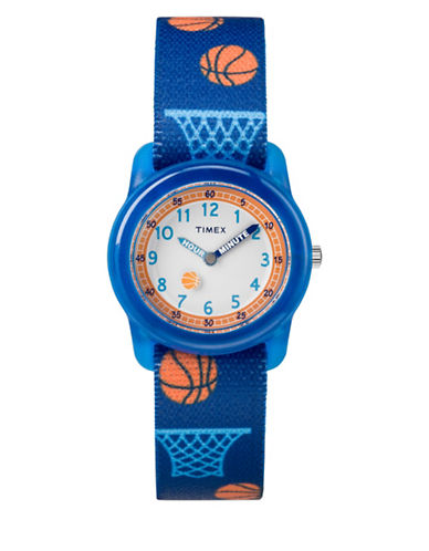 Timex Time Machines Basketball Analog Watch-BLUE-One Size