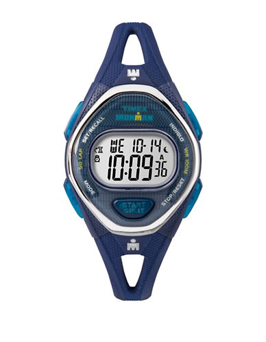 Timex Digital Octagon Case Blue Resin Strap Watch-BLUE-One Size